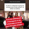 Les belles Emilie Nef Naf et Sidonie Biemont en froid ? Un échange aperçu le 12 juillet 2018.
