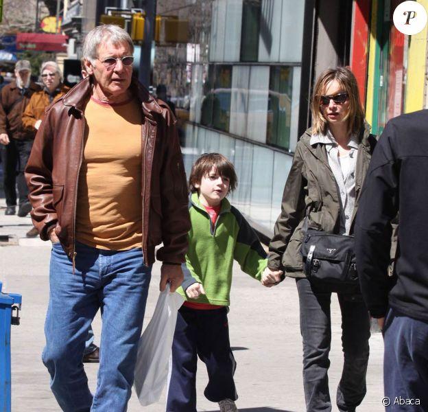Harrison Ford, Calista Flockhart et Liam, le fils de Calista
