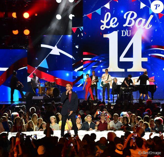 """Exclusif - Nikos Aliagas - Enregistrement de l'émission """"Le Bal du 14 Juillet"""" dans les Arènes de Nîmes, diffusée sur TF1. Le 7 juin 2018 © Bruno Bebert"""