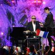 """Exclusif - Gilbert Montagné - Enregistrement de l'émission """"Le Bal du 14 Juillet"""" dans les Arènes de Nîmes, diffusée sur TF1. Le 7 juin 2018 © Bruno Bebert"""