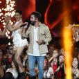 """Exclusif - Kendji Girac - Enregistrement de l'émission """"Le Bal du 14 Juillet"""" dans les Arènes de Nîmes, diffusée sur TF1. Le 7 juin 2018 © Bruno Bebert"""