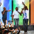 """Exclusif - Le groupe Magic System - Enregistrement de l'émission """"Le Bal du 14 Juillet"""" dans les Arènes de Nîmes, diffusée sur TF1. Le 7 juin 2018 © Bruno Bebert"""