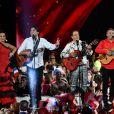 """Exclusif - Chico et les Gypsies - Enregistrement de l'émission """"Le Bal du 14 Juillet"""" dans les Arènes de Nîmes, diffusée sur TF1. Le 7 juin 2018 © Bruno Bebert"""