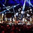 """Exclusif - Patrick Hernandez - Enregistrement de l'émission """"Le Bal du 14 Juillet"""" dans les Arènes de Nîmes, diffusée sur TF1. Le 7 juin 2018 © Bruno Bebert"""