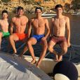 Les quatre fils de Zinédine Zidane, Elyaz, Luca, Enzo et Théo, en vacances à Ibiza. Instagram, le 19 juin 2018.