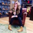 Loana a annoncé sa collaboration avec la marque de chaussures, Timberland, le 1er juillet 2018 sur Instagram.