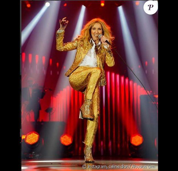 Céline Dion sur scène à Jakarta. Instagram, juillet 2018