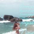 Marine Lorphelin sublime en bikini en Colombie fin juillet 2018.