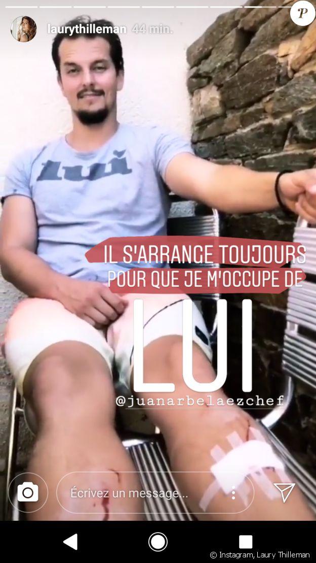 Juan Arbelaez blessé pendant ses vacances avec Laury Thilleman - Instagram, 23 juillet 2018