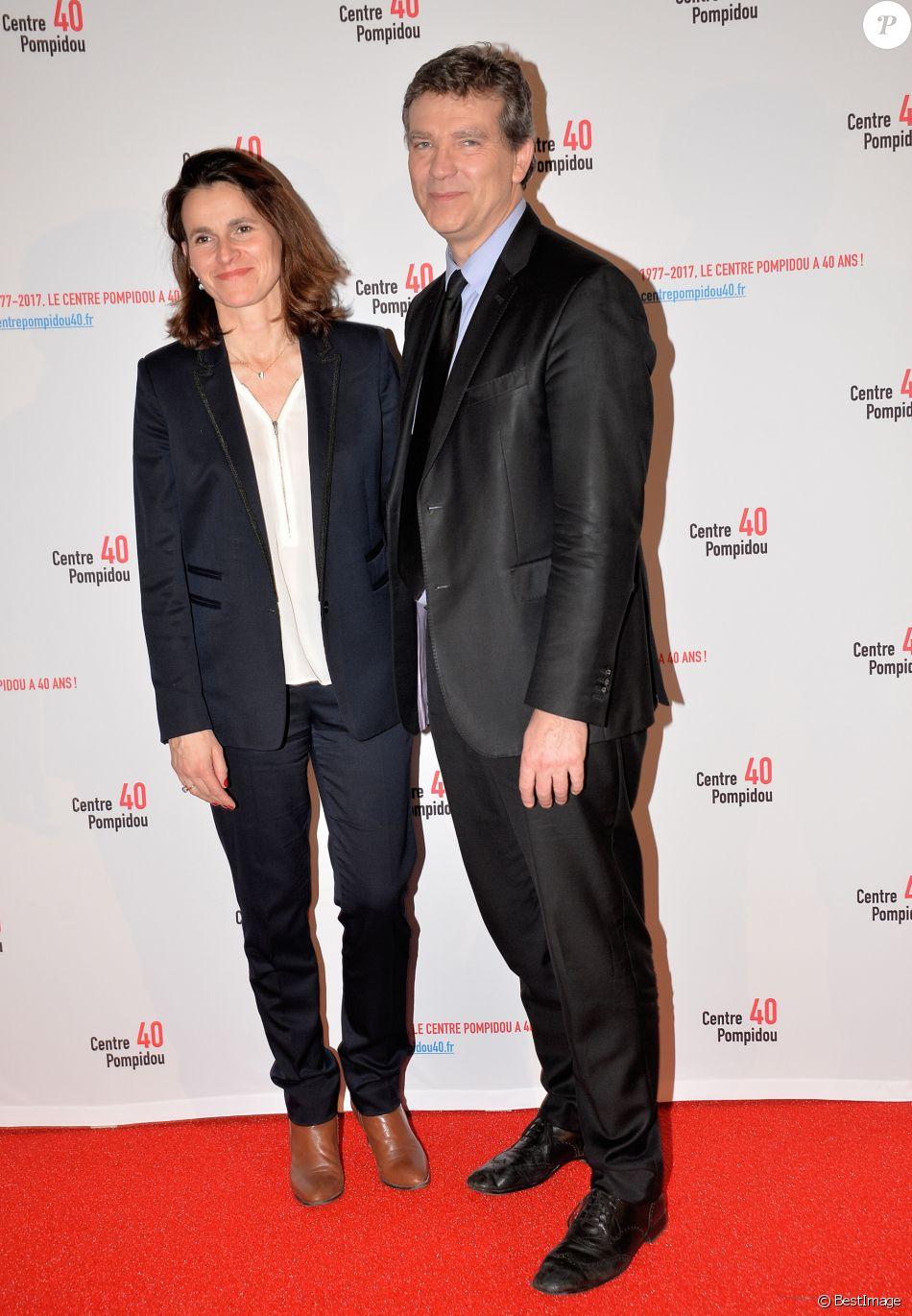 Aurélie Filippetti et son compagnon Arnaud Montebourg - Cocktail pour les 40 ans du Centre Georges Pompidou au centre Pompidou à Paris, France, le 10 janvier 2017.