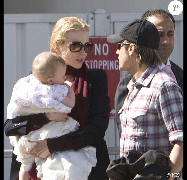 Nicole Kidman, son mari Keith Urban et leur fille Sunday Rose à Sydney, s'apprêtent à prendre l'avion pour Los Angeles