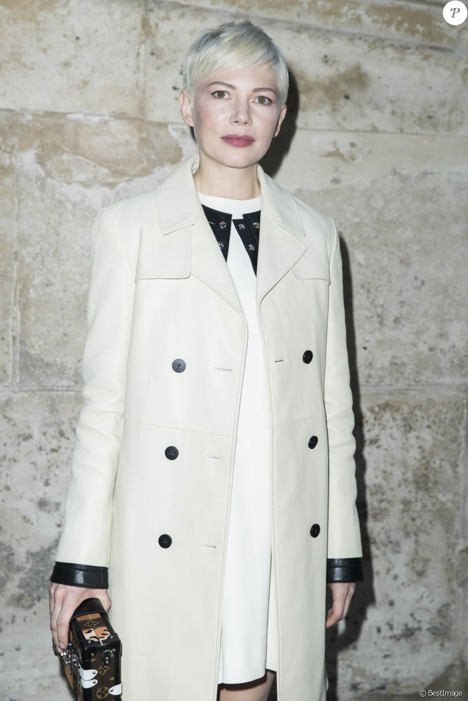 "Michelle Williams - Photocall du défilé de mode PAP Femme automne-hiver 2018/2019 "" Louis Vuitton "" à Paris le 6 mars 2018 © Olivier Borde / Bestimage"