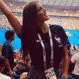 Iris Mittenaere lors de la finale de la Coupe du monde 2018 en Russie -Instagram, 15 juillet 2018