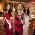 Patricia Da Silva (Miss Portugal 2014), Valentina Ferrer (Miss Argentine 2014) et Yulia Alipova (Miss Russie 2014) à Miami lors du concours Miss Univers 2014, le 9 janvier 2015.