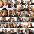 Nagui en photo avec tous les joueurs de l'équipe de France - Instagram, 10 juillet 2018