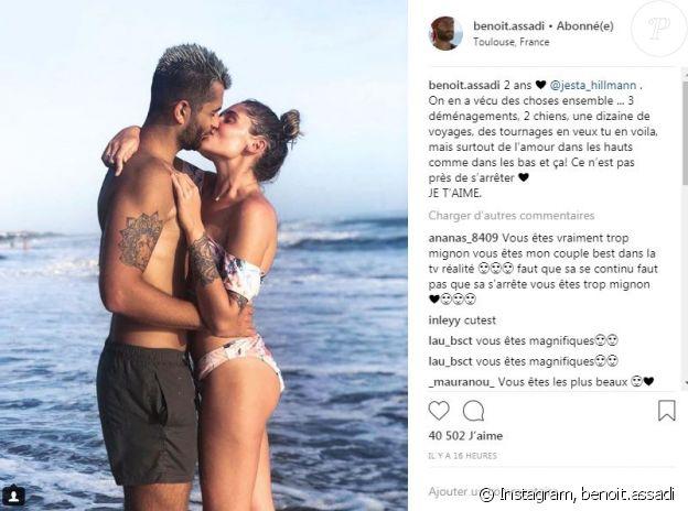"""Benoît de """"Koh Lanta"""" déclare son amour à Jesta pour leurs deux ans - Instagram, 1er août 2018"""