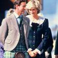 Lady Diana avec le prince Charles en 1987.