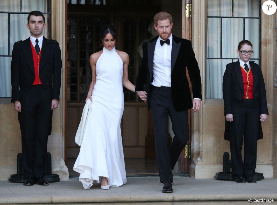 e7e05a091ff Meghan Markle en robe blanche Stella McCartney pour la réception de son  mariage avec le prince Harry