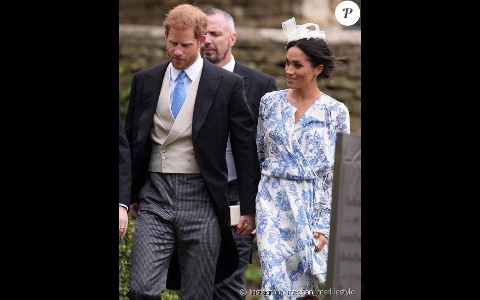 56f473bf6a3 Meghan Markle en robe Oscar de la Renta pour le mariage de Celia  McCorquodale