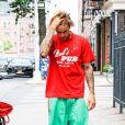 Exclusif - Justin Bieber et sa fiancée Hailey Baldwin sont allés déjeuner puis au cinéma ensemble à New York, le 3 août 2018.
