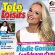 """Elodie Gossuin en couverture du nouveau numéro de """"Télé Loisirs"""" - 6 août 2018"""