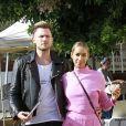 Exclusif - Leona Lewis et son compagnon Dennis Jauch sont allés manger une glace à Echo Park le 3 novembre 2017. © CPA/Bestimage