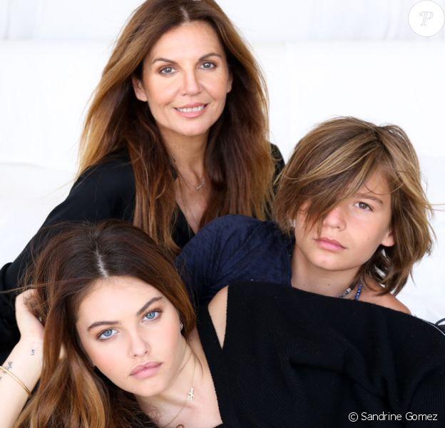 Veronika Loubry et ses enfants, Thylane et Ayrton Blondeau. Photo par Sandrine Gomez.