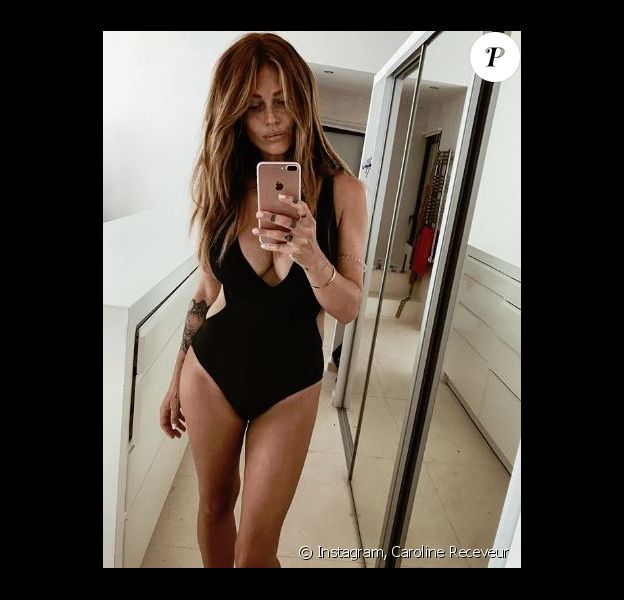 Caroline Receveur en vacances à Saint-Tropez - Instagram, 8 août 2018