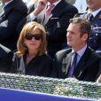 Cristina d'Espagne et son mari Inaki Urdangarin, lors de la finale du tournoi de tennis de Barcelone, qui a vu la victoire de Rafael Nadal, le 26 avril 2009 !