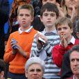 Les enfants de Cristina d'Espagne et d'Inaki Urdangarin, lors de la finale du tournoi de tennis de Barcelone, qui a vu la victoire de Rafael Nadal, le 26 avril 2009 !