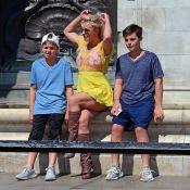 Britney Spears : Touriste avec ses fils devant Buckingham Palace