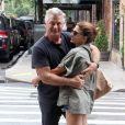 Exclusif - Alec Baldwin et sa femme Hilaria à New York. Le 25 juillet 2018.