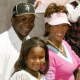 Whitney Houston et Bobby Brown avec leur fille Bobbi Kristina à Los Angeles, le 8 août 2004