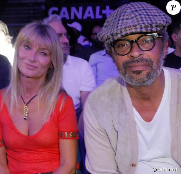 Yannick Noah et sa femme Isabelle Camus - People au match de boxe de Tony Yoka au palais des sports de Paris, le 23 juin 2018