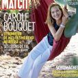 """Carole Bouquet en couverture de """"Paris Match"""", numéro du 23 août 2018."""