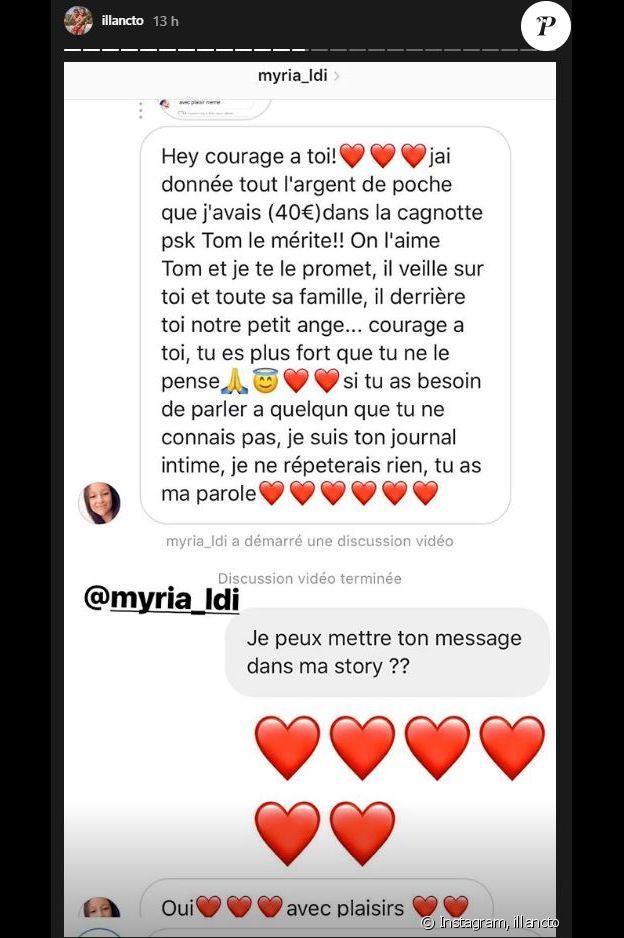 Illan (10 couples parfaits) a partagé les nombreuses donations des internautes - Instagram, 30 août 2018