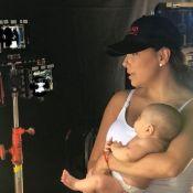 Eva Longoria : La jeune maman reprend les tournages, Santiago dans les bras