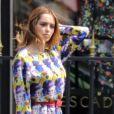 Exclusif - Nabilla Benattia en shooting photo Avenue Montaigne à Paris le 23 mai 2018