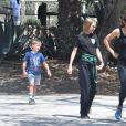 Exclusif - Jennifer Garner a emmené ses enfants Samuel, Violet et Seraphina dans un ranch à sud Palisades alors qu'elle et B. Affleck auraient conclu un accord de divorce le 26 août 2018. Merci de flouter le visage des enfants avant publication 26/08/2018 - Los Angeles