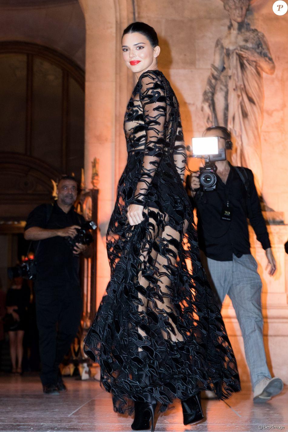 Kendall Jenner (égérie de la marque Longchamp) lors de la soirée du 70ème anniversaire de Longchamp à l'Opéra Garnier à Paris, France, le 11 septembre 2018. © Cyril Moreu/Bestimage