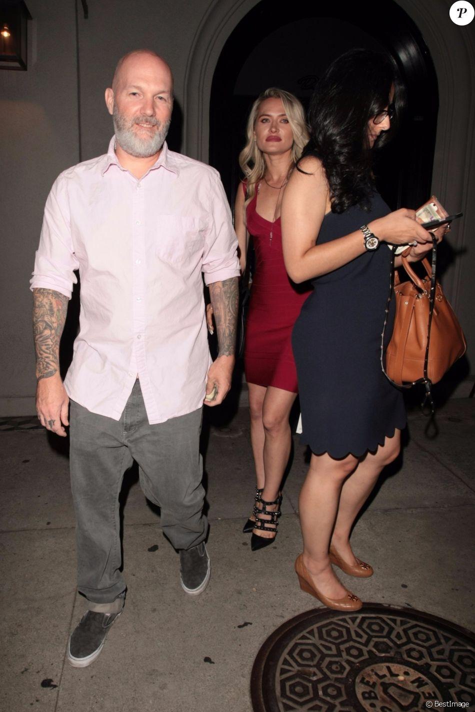 Fred Durst (Limp Bizkit) et sa femme Kseniya Beryazina à Hollywood le 6 septembre 2017, après un dîner chez Craig's.