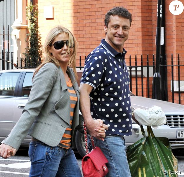 Patsy Kensit et son mari Jeremy Healy font du shopping chez Harrods à Londres le 2 mai 2009