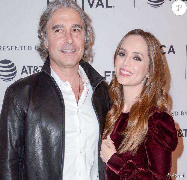 """Eliza Dushku et Peter Palandjian à la première du film """"Mapplethorpe"""" lors du Festival de Tribeca à New York le 22 avril 2018."""