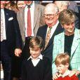 Lady Diana, le prince William et le prince Harry au Canada en octobre 1991.