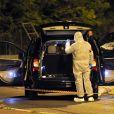 La police judiciaire des Alpes Maritimes procède aux premiers relevés de preuves dans le véhicule où Hélène Pasto a été victime d'assassinat alors qu'elle sortait de l'hôpital de l'Archet à Nice le 6 mai 2014.