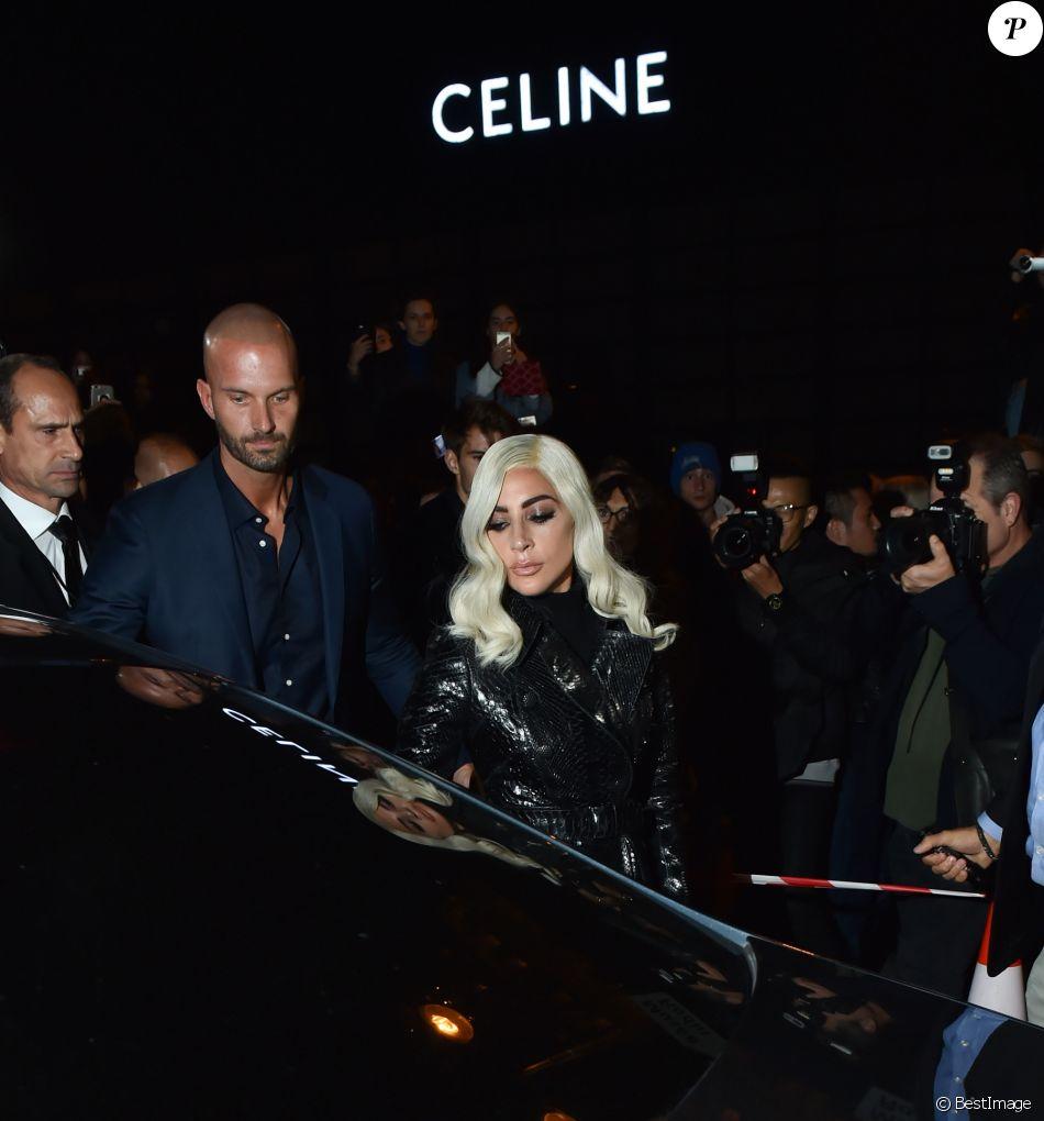 Lady Gaga - Défilé Céline, collections prêt-à-porter et homme printemps-été 2019 à l'Hôtel de Ville de Paris le 28 septembre 2018.