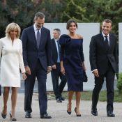 Brigitte Macron et Letizia d'Espagne : Chic et modernes au Grand Palais