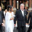 Alain Delon et Saha Alli à Monte-Carlo pour le départ de la course Maharaja of the road