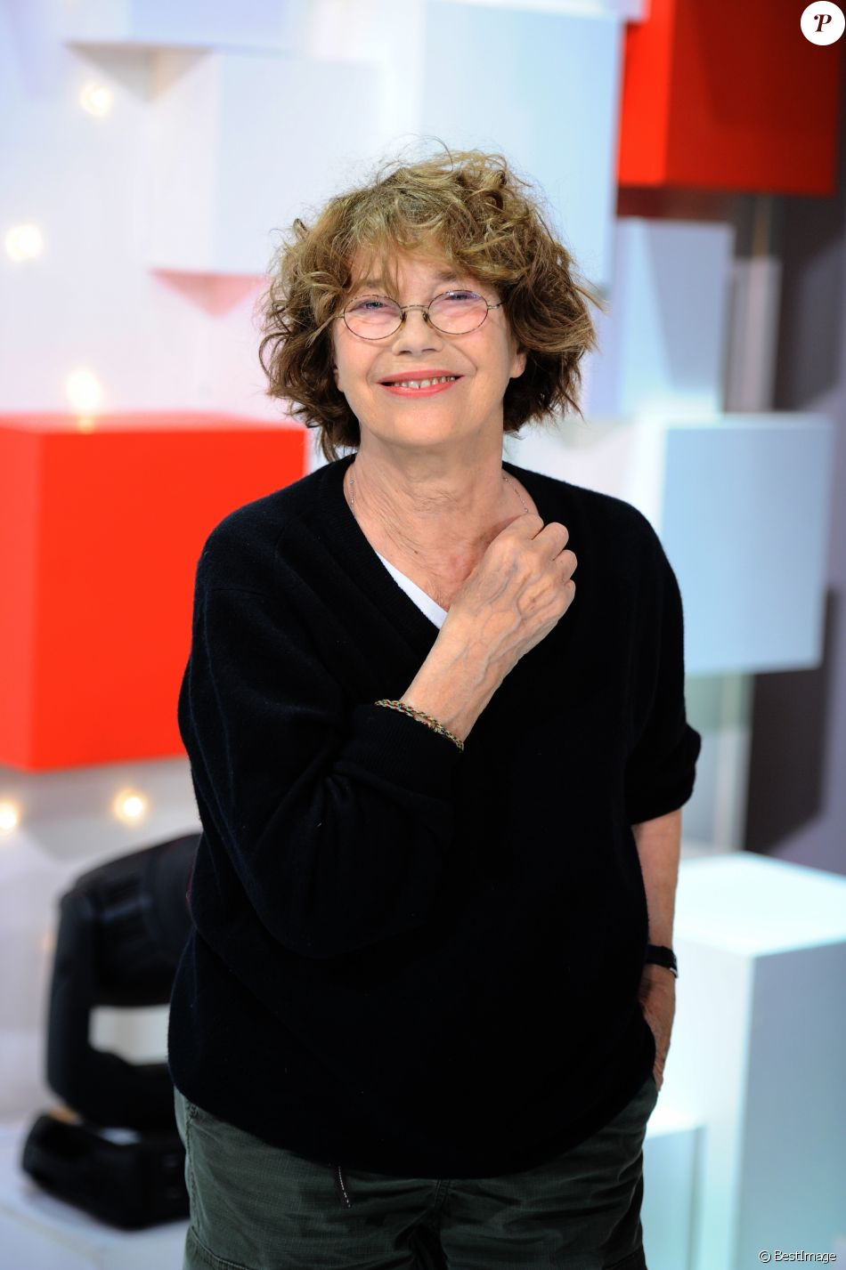 Exclusif - Jane Birkin - Enregistrement de l'émission vivement dimanche au studio gabriel le 8 octobre 2018. Diffusion le 14 octobre 2018 sur france 2 . © Guillaume Gaffiot / Bestimage  No Web en Suisse / Belgique08/10/2018 - Paris