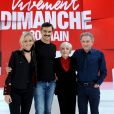 Exclusif - Claire Borotra, François Vincentelli , Nicole Croisille et Michel Drucker - Enregistrement de l'émission vivement dimanche au studio gabriel le 8 octobre 2018. Diffusion le 14 octobre 2018 sur france 2 . © Guillaume Gaffiot / Bestimage  No Web en Suisse / Belgique08/10/2018 - Paris